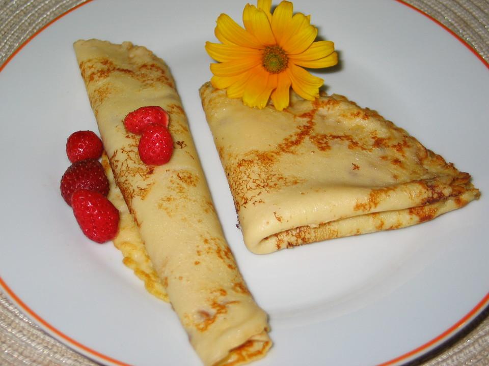 Pfannkuchen Einfach Erdbeerpfannkuchen Und Pariser Pfannkuchen Von