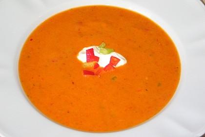 Tomaten - Paprika - Cremesuppe 2