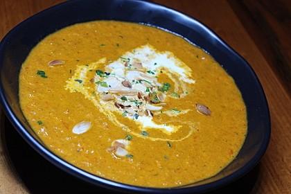Tomaten - Paprika - Cremesuppe