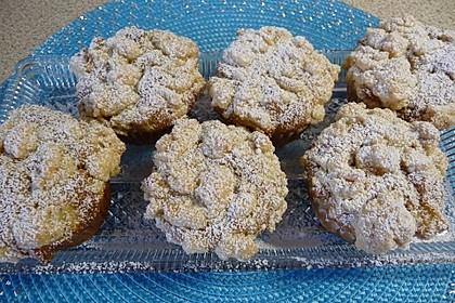 Birnen - Zimt - Muffins mit Streusel (Bild)