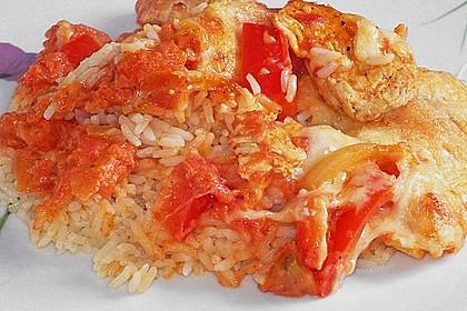 Reis - Hähnchen - Auflauf 7