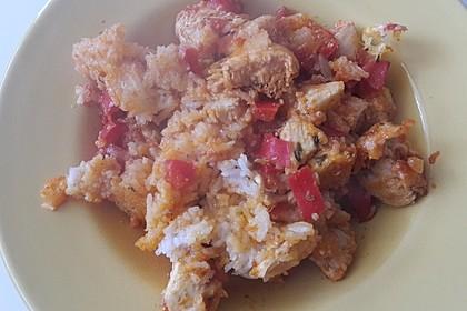 Reis - Hähnchen - Auflauf 10