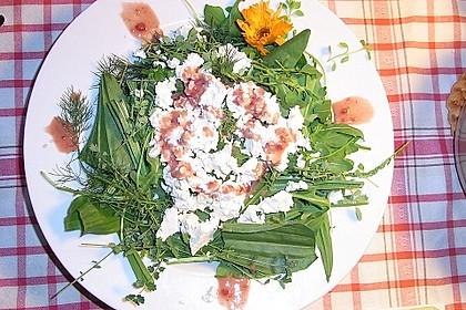 Wildkräutersalat mit Beerenvinaigrette