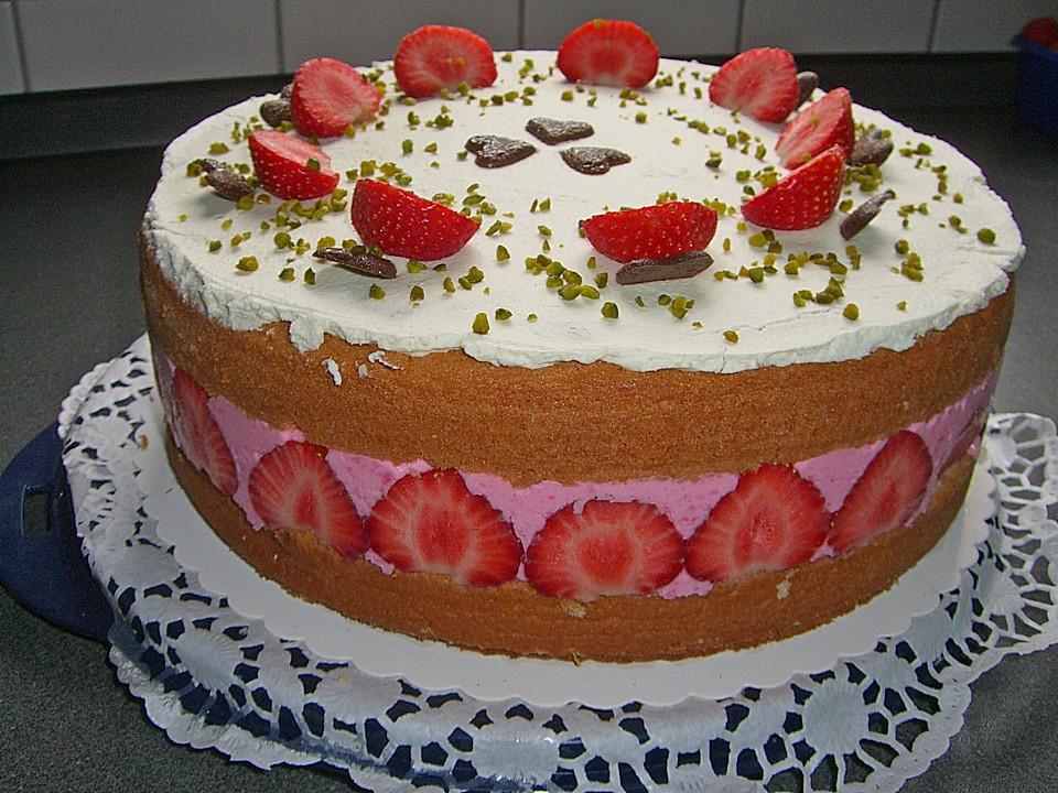 Erdbeer Joghurt Sahne Torte Von Patchine Chefkoch De