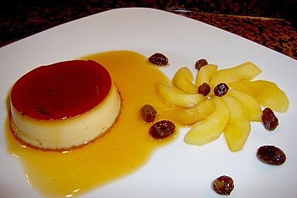 Crème caramel mit Apfelkompott 1