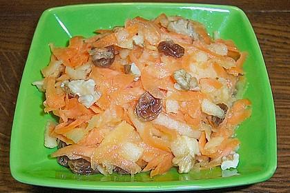 Beschwipster Möhren - Apfel - Salat
