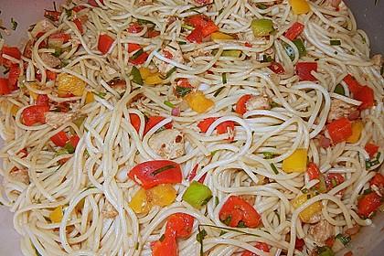Asiatischer Spaghettisalat 2