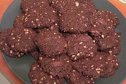 Schoko - Kekse oder Double Chocolate Cookies (Bild)