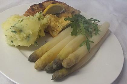 Spargel mit Schweineschnitzel Wiener Art und Kartoffelbrei 2
