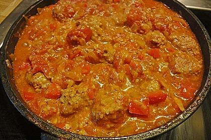 Mexikanische Fleischbällchen in Sauce 2