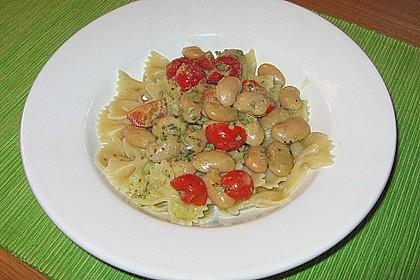 Spaghettini mit weißen Bohnen