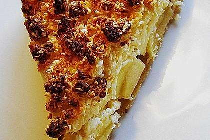 Apfel - Käse - Kokosstreuselkuchen