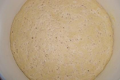Knusprig dünne Pizza mit Chorizo und Mozzarella 56
