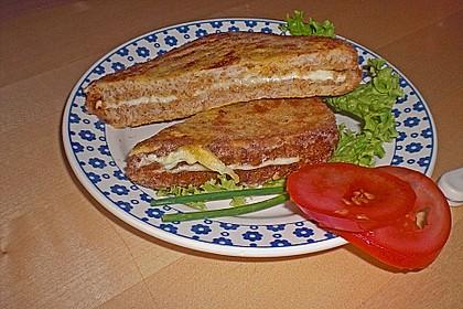 Gebackene Käsesandwiches