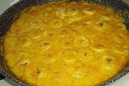 Hähnchencurry mit Bananen 2