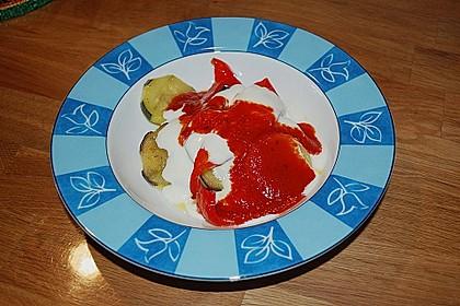 Mediterranes gebackenes Gemüse mit Joghurt - Tomatensauce 36
