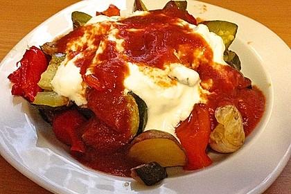 Mediterranes gebackenes Gemüse mit Joghurt - Tomatensauce 22