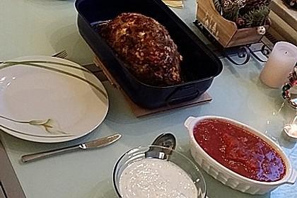 Mediterranes gebackenes Gemüse mit Joghurt - Tomatensauce 38