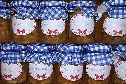 Bratapfelmarmelade mit Rosinen und Zimt (Bild)