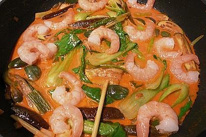 Flusskrebscurry mit Thai - Auberginen und Pak Choi 2