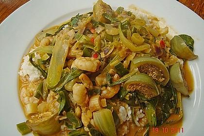 Flusskrebscurry mit Thai - Auberginen und Pak Choi 3