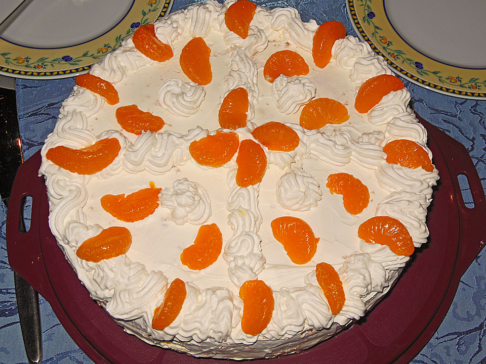 Mandarinen Schmand Torte Von Silverpearl82 Chefkoch De