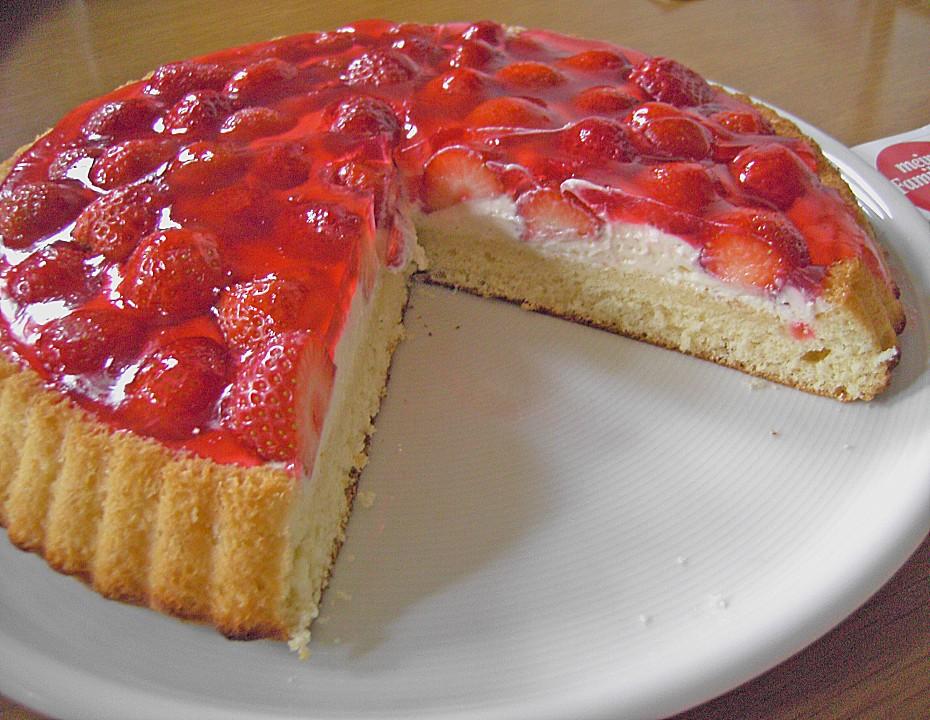 Erdbeer Frischkase Kuchen Ein Gutes Rezept Chefkoch De