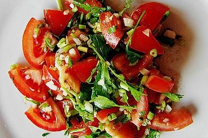 Petersilien - Tomaten - Salat auf Taboulé - Art 2