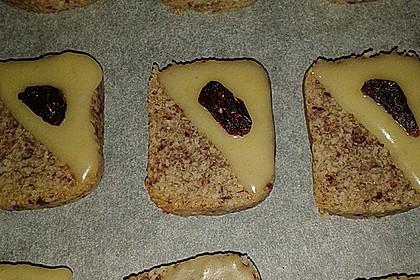 Mandelplätzchen mit Cranberries (Bild)