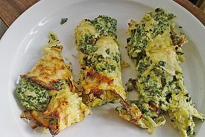 Kartoffel - Spinat - Röllchen 6