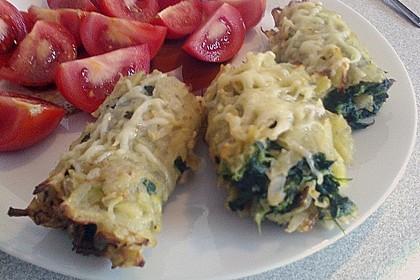Kartoffel - Spinat - Röllchen 9
