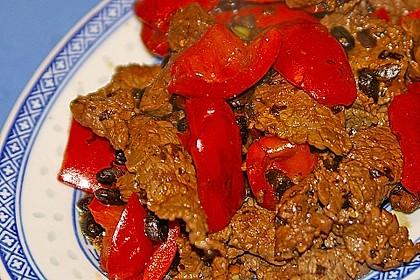 Rinderfilet mit Paprika und schwarzer Bohnensauce 1