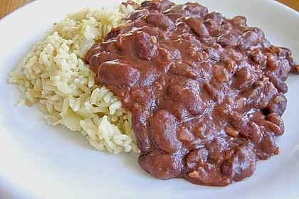 Reis mit Bohnensoße 1