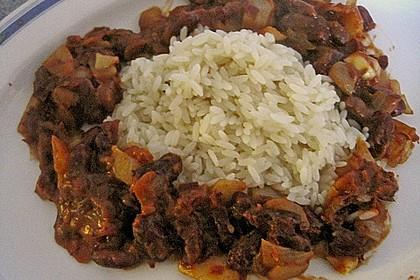 Reis mit Bohnensoße 4