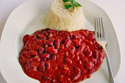 Reis mit Bohnensoße 3