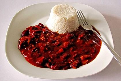 Reis mit Bohnensoße 2