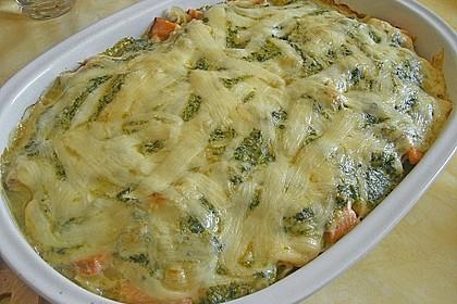 Nudelauflauf mit Spinat und Lachs 13