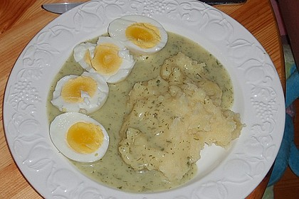 Eier in Kräutersauce 4