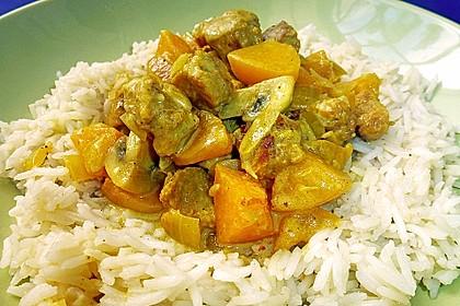 Curry - Sojageschnetzeltes mit Kokossoße
