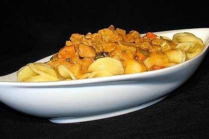 Curry - Sojageschnetzeltes mit Kokossoße 1