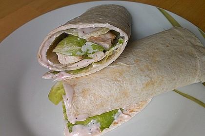 Wraps mit Preiselbeerfrischkäse und geräucherter Putenbrust 1