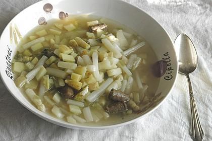 Spargel-Suppentopf mit Mettwurst (Bild)