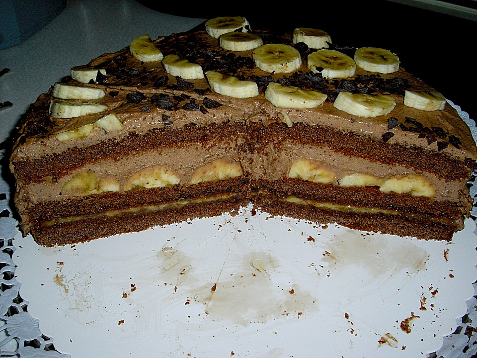 Schoko Bananen Torte Ein Tolles Rezept Chefkoch De