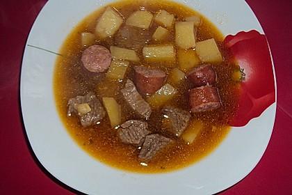 Kartoffeleintopf mit Fleisch 4