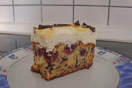 Kirsch - Eierlikör - Blechkuchen mit Schmand - Sahne 34