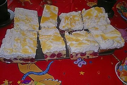 Kirsch - Eierlikör - Blechkuchen mit Schmand - Sahne 54