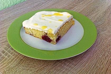 Kirsch - Eierlikör - Blechkuchen mit Schmand - Sahne 32