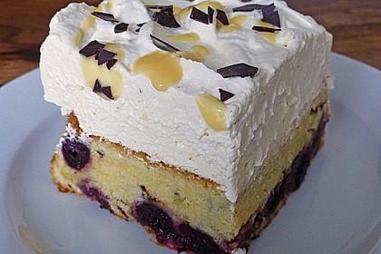 Kirsch - Eierlikör - Blechkuchen mit Schmand - Sahne 9