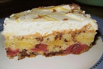 Kirsch - Eierlikör - Blechkuchen mit Schmand - Sahne 24