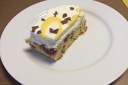 Kirsch - Eierlikör - Blechkuchen mit Schmand - Sahne 73